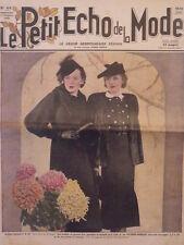 Le Petit Echo de la Mode N° 44 du 01/11/1936  Mode Art Déco