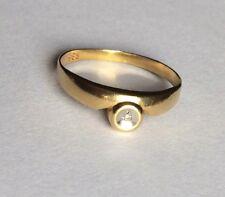 Ring mit Brillant Diamant Gold 585 Gelbgold 14K  Gr. 18,8 mm / 59