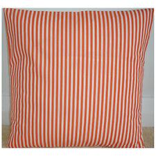 "14"" Cushion Cover Orange and White Stripe Stripes Striped Cotton 14x14"