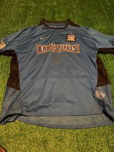 Vintage San Jose Earthquakes 02-04 Vintage Nike Blur MLS Soccer Jersey Size XL
