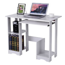 Modern Computer Desk with Keyboard Bracket PC Workstation Study Writing Table