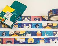 Masking Washi Tape Katzenzeichnung 10 m x 15 mm