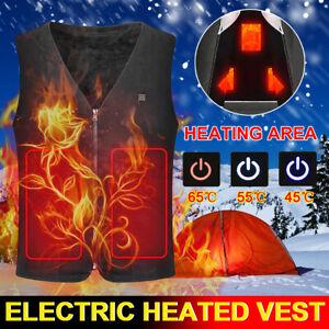 Electric Heated Vest Warm Body USB Men Women Heating Coat Jacket Winter Clothing
