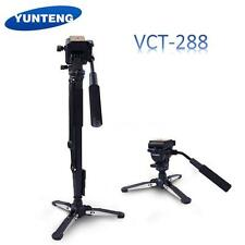 YUNTENG VCT-288 Camera Tripod Stand Monopod w/ Fluid Pan Head Unipod Holder P8P0