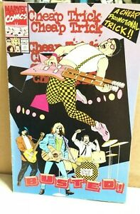 1990 MARVEL CHEAP TRICK BUSTED COMIC AND MUCH MUCH MORE! VH
