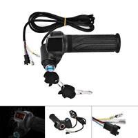 E-Bike Electric Scooter Throttle Handlebar Grips 24 36 48 72V LED Digital Meter