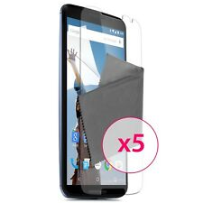 Films de protection Ultra Clear HD Pour Motorola Nexus 6 Lot de 5