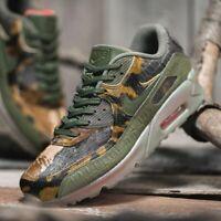 Nike Air Max 90 Crocodile Gator Hommes Vert Camouflage Baskets Basket UK 7-11