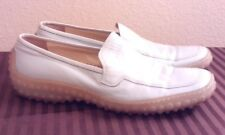 Botticelli Men's Light Blue Leather Slip Ons Loafers Shoes Italian Made, Sz. 8.5