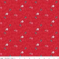 FLANNEL: PANDA FLORAL RED Cotton Flannel Print by RILEY BLAKE BTY