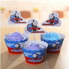 12 Thomas the Tank Engine Cupcake Toppers+12 Wrappers Birthday Party Decoration