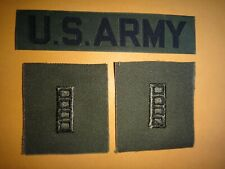 Pocket Tape U.S ARMY + Pair Of Chief Warrant Officer CW-4 Subdued Collar Patches
