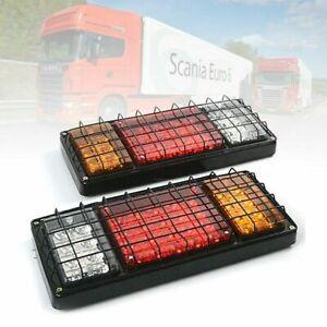 24v Led Rear Tail Lights Lamp Pair 4 Function Trailer Caravan Truck Tipper Lorry