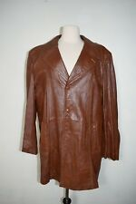 VINTAGE ANGEL SKIN CABRETTA LEATHER 3 BUTTON SPORT COAT JACKET BLAZER 44R GRAIS