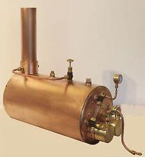 "Twin Flue Superheater Live Steam Model Boiler 5"" diameter - Pendle Steam Boilers"