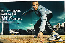 PUBLICITE ADVERTISING 025  2005  ADIDAS vetements de sport ( 2p) MARDY FISH tenn