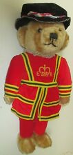 "Vintage Merrythought Mohair Plush Beefeater Teddy Bear 17"", made in England"