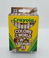 Crayola Crayons 32 Pack, Colors of the World, Multicultural Crayons New Release