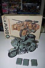 70'S VINTAGE ESCI GERMAN BMW R/75 MOTORCYCLE With Side Car MODEL KIT 1/9 #7001