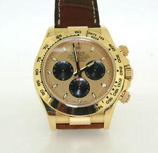 Rolex Genuine Leather Strap Adult Round Wristwatches