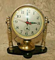 Vintage Alarm Clock Made In China Diamond Wind-Up Alarm Clock Church Bell #137