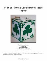 St. Patrick's Day Shamrock Tissue Topper-Plastic Canvas Pattern or Kit
