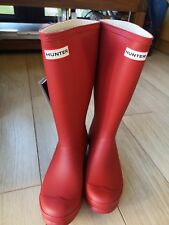Hunter Wellies Ladies/Kids Size UK 4. Red Brand New, Boxed, with Bag.