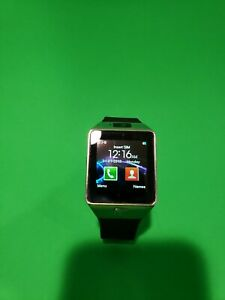 Smart Watch Fitness Tracker Silver Color Black Band