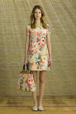 Tory Burch Floral Dress 2  Spring S Beautiful Celeb XS Garden Party NWOT