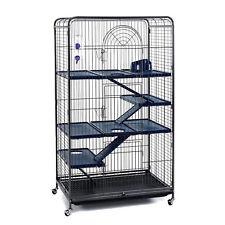 Extra Tall Rat Chinchilla Ferret Degu Cage w Bottle Bowl Shelves & Ladders 140cm