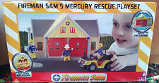 Fireman Sam's Mercury Rescue Playset-le-feu Station - 3 + ANS