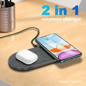 New universal 30W 2 in 1 Qi Induction Dual 15W Seat Wireless Charger for iPhone