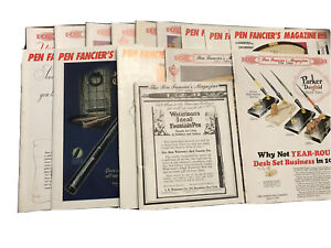 15 Rare  Pen Fancier's Magazines Selected Issues 1984 To 1990 Used Great Shape