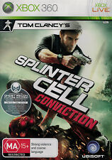 Tom Clancys Splinter Cell Conviction, Xbox 360 game, USED