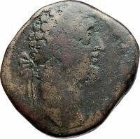 COMMODUS 183AD Sestertius Big Rome  Ancient Roman Coin Providentia i79174