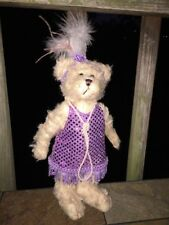 "Brass Button Pickford Bears DAISY 1920 Antique FLAPPER GIRL Dress Bear 9"" RARE"