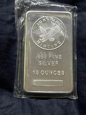 10 Ounce Silver Bar Bullion 999 Pure