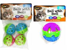 Bow Wow Cat Ball with Bell 1 Large and 4 Small Bundle