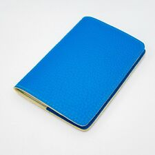 NEW RIVER BLUE LEATHER PASSPORT WALLET HOLDER COVER TRIP TICKET VISA VACATION