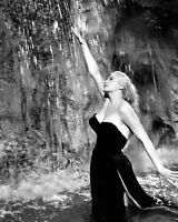 """ANITA EKBERG IN THE ITALIAN FILM """"LA DOLCE VITA"""" - 8X10 PUBLICITY PHOTO (AZ691)"""