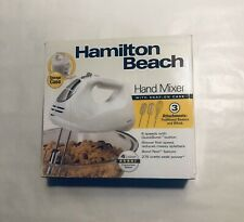 NEW Hamilton Beach Hand Mixer with Snap-On Case White 275 watt