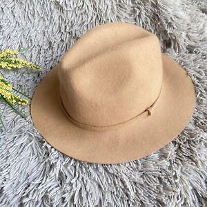 J.CREW Fedora Hat Medium Large Brown 100% Wool Boho Trendy Fashion