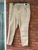 OLD NAVY Tan Mid-Rise Super Skinny Rockstar Stretch Waist Jeans  Size 18 NWT $35