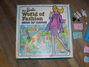Vintage Barbie World of Fashion Game-complete, EX condition