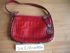 40b1da7395 Gianni Versace red leather shoulder bag authentic purse hand satchel