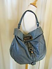 MARC JACOBS grey medium slouchy leather shoulder bag