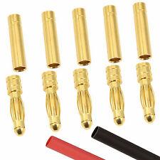 5 X Rc 4mm Pares Oro Conector de bala + Calor Shrink Batería Lipo CES Motor