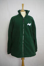 Fleece Jacket With West Highland White Terrier Dog Logo - Green Size Medium