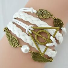 Pearl Leather Alloy Costume Bracelets
