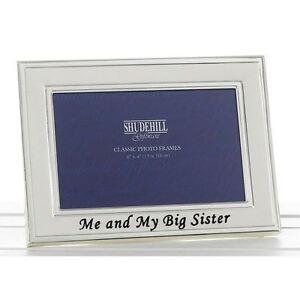 Engraved Me And My Big Sister Photo Frame Gifts Present Christmas Birthday Decor